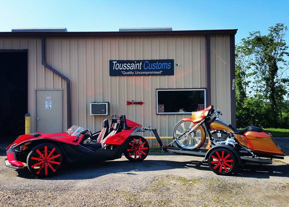 Polaris Sling Shot >> Slingshot pulling custom Harley   Polaris Slingshot Forum