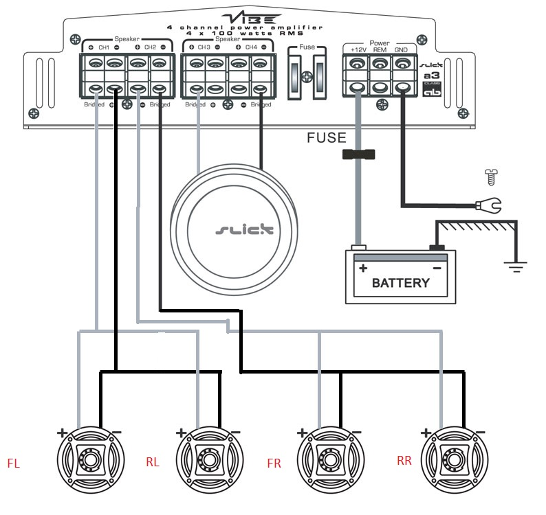 DIAGRAM] 1 Channel Amplifier Wiring Diagram FULL Version HD ... on