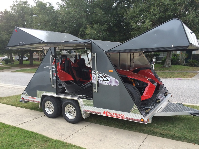 sold 2015 montrose enclosed lightweight aluminum slingshot trailer polaris slingshot forum. Black Bedroom Furniture Sets. Home Design Ideas